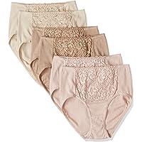 [Seshiel]内裤 *棉, 温柔呵护肌肤的内裤(3条装×2)深 OTH-288 女士