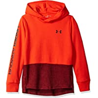 Under Armour 安德玛 男孩双针织连帽衫 Radio Red (890)/Dark Maroon 青少年 XS