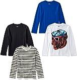 Amazon Brand - 斑点斑马男孩幼童和儿童 4 件装长袖 T 恤