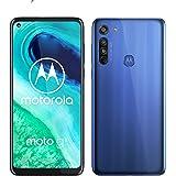 摩托罗拉 Moto G8(6.4 英寸 HD+ 零凹口显示屏,Qualcomm Snapdragon SD665,16MB主摄像头,2万像素宏摄像头,4000毫安电池,双SIM,4/64GB,安卓10,霓虹蓝