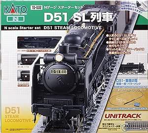 KATO N轨距 Starter Set 铁道模型入门套装 D51 SL列車