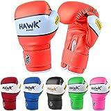 Hawk Sports 儿童拳击手套儿童青少年拳击袋跆拳道泰拳手套 MMA 训练拳击手套