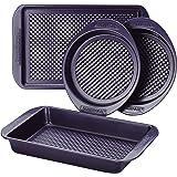 farberware ( R ) colorvive ( TM ) 不粘烤盘套装,4件套,紫色