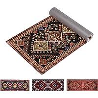 Ananda 高级印花瑜伽垫 | 6 毫米超厚 72 英寸长防滑锻炼和健身垫,带背带,适用于瑜伽、普拉提和地板练习