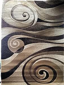 现代圆形小地毯巧克力雕塑设计 258(7 英尺 8 英寸 X 7 英尺 8 英寸圆形)