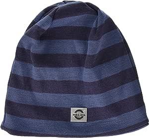 Mikk-Line 婴儿,幼儿和大童羊毛无檐小便帽 11-12Y 蓝色 91006-252-146/152-252-11-12Y