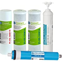 APEC filter-max-es50 50 GPD 大容量替换滤芯套装 适用于Essence系列 反渗透水过滤器系统