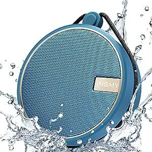 INSMY 便携式 IPX7 防水蓝牙音箱,无线户外扬声器淋浴音箱,带高清声音,支持 TF 卡,吸盘,12 小时播放时间,适用于皮划艇、划船、远足C12