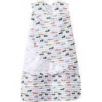美国HALO 包裹式纯棉2合1婴儿安全睡袋 春夏薄款 蓝色赛车S(3-6个月)