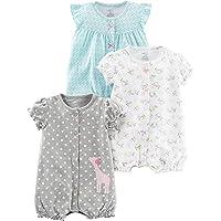Simple Joys by Carter's 女婴 3 件装按扣连衫裤