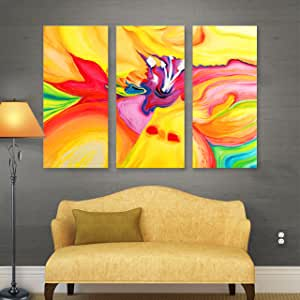 ArtWall Susi Franco 'Secret Life of Lily' 3-Piece Gallery Wrapped Canvas Artwork, 24 by 36-Inch