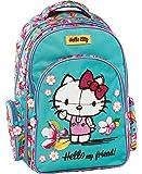 Graffiti Hello Kitty 学生背包,44 厘米,*(薄荷绿)