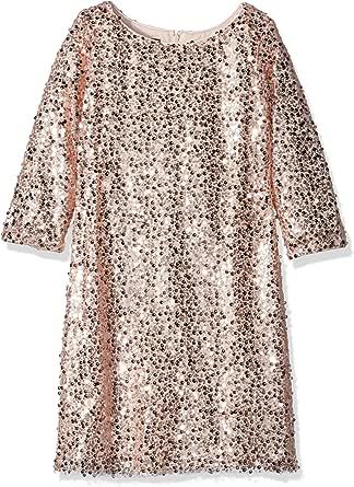 Biscotti Girls' Filigree Splendor L/s Sequin Dress  粉红色 12