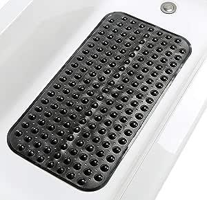 Tike Smart 优质浴缸垫 - 长,超长 不透明黑色 中