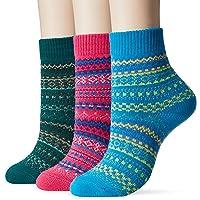[郡是] 袜子 Logos 标志 (短款) 3双装 LLG703