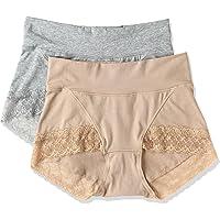 [西装]可以很好地收紧腹部的短裤(超柔软型)(棉混弹)(2件装) EE-214 女款