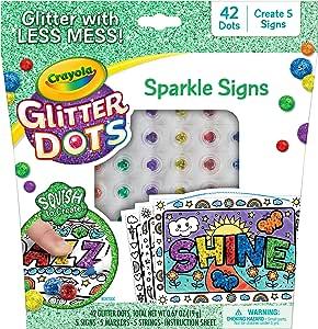 Crayola 闪光点闪光标志,闪光工艺套装,儿童礼物,6,7,8,9