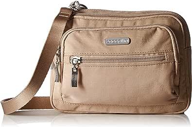 Baggallini Triple Zip Crossbody Travel Bag, Beach, One Size