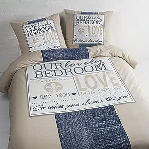 daydream Antonio 被套 Lits 240 x 200/220 厘米 + 2 件枕套,纯棉,多色,240 x 220 厘米
