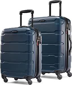 Samsonite 新秀丽 Omni Pc 硬壳可扩展行李箱 带万向轮 蓝* 2-Piece Set (20/24)