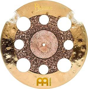 Meinl Cymbals Byzance 40.64 厘米双垃圾碰撞带孔 — 土耳其制造 — 手锤 B20 青铜色,2 年保修(B16DUTRC)