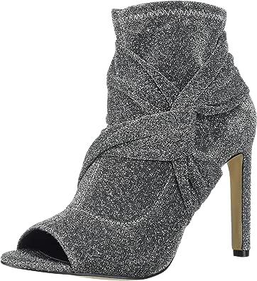 Jewel Badgley Mischka 女式 ROCKFORD 靴子,银色面料,37.5 码