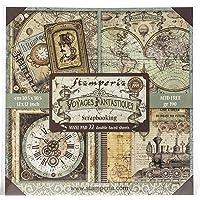 STAMPERIA 国际,KFT 纸垫 12X12 22PK,Voyages Fantastique ,22 设计/ 1…
