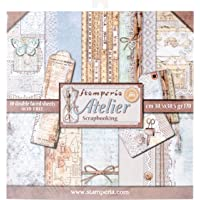 """Stamperia Double-Sided Paper Pad 12""""X12"""" 10/Pkg-Atelier, 10…"""