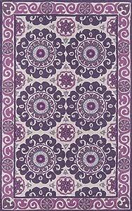 Momeni Rugs Suzani 鱼钩系列,* 羊毛手钩传统粗地毯