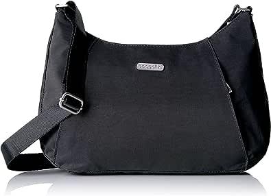 Baggallini 修身斜挎包 – 轻便宽大的钱包带拉链口袋和可拆 RFID 腕套