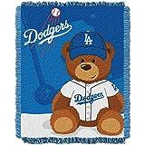 官方* MLB 野熊编织提花婴儿投掷,36 英寸 x 46 洛杉矶道奇队 36x46-Inch