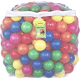 Click N' Play 彩色小球超值包塑料球玩具 无双酚A的邻苯二甲酸材质 防碎 6种明亮颜色 可重复使用 耐用的拉链收纳网袋