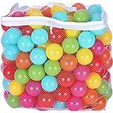 BalanceFrom 2.5 英寸不含邻苯二甲酸盐 不含双酚 A *抗压球球 - 6 种鲜艳颜色,可重复使用且耐用的储物网袋带拉链